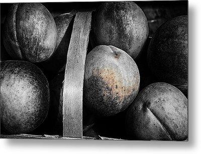 Peaches In A Basket Metal Print by William Jones