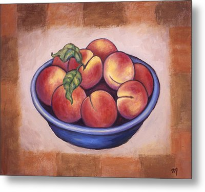 Peaches Metal Print by Linda Mears