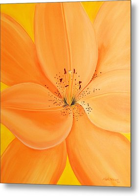 Peachy Summer Metal Print by Maria Williams