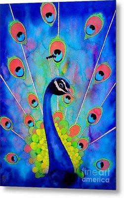 Peacock Metal Print by Robert Hooper