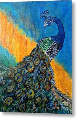 Peacock Waltz #3 Metal Print by Ella Kaye Dickey