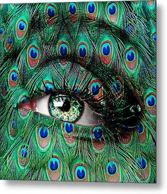 Peacock Metal Print by Yosi Cupano