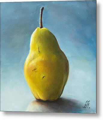 Pear Metal Print by Anna Abramska