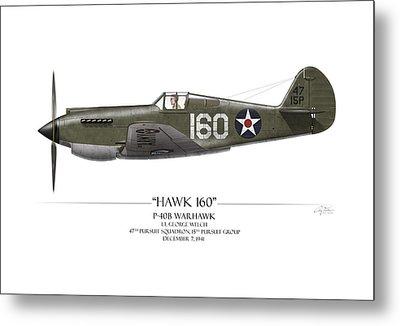 Pearl Harbor P-40 Warhawk - White Background Metal Print by Craig Tinder