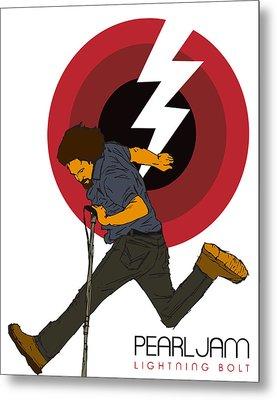 Pearl Jam Lightning Bolt Metal Print by Tomas Raul Calvo Sanchez