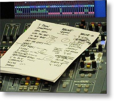 Pearl Jam Set List- Moline Metal Print by Gary Koett
