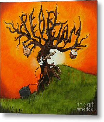Pearl Jam Tree Metal Print by Tarah Davis