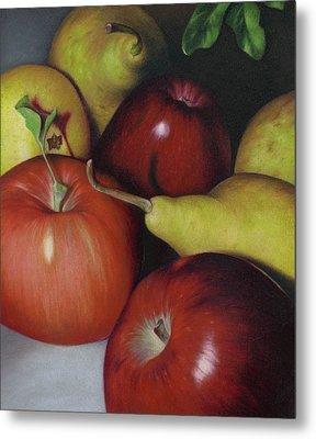 Pears And Apples Metal Print by Natasha Denger