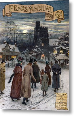 Pears Annual 1913 1910s Uk Cc Villages Metal Print by The Advertising Archives