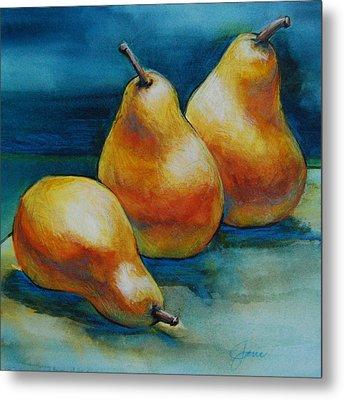 Pears Of Three Metal Print by Jani Freimann