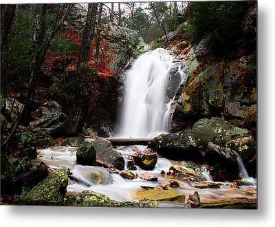 Peavine Falls In Autumn Metal Print by Shelby  Young