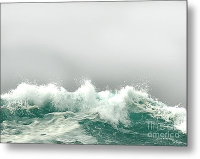 Pebble Beach In The Fog Metal Print by Artist and Photographer Laura Wrede