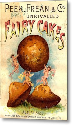 Peek, Frean And Co 1890s Uk Fairy Cakes Metal Print by The Advertising Archives