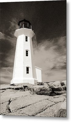 Peggy's Cove Lighthouse Metal Print by Arkady Kunysz