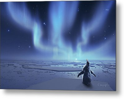 Penguin Dreams Metal Print by Cassiopeia Art