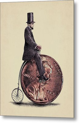 Penny Farthing Metal Print by Eric Fan