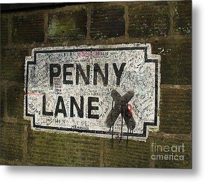 Penny Lane Is In My Heart Metal Print by Alan Wynne
