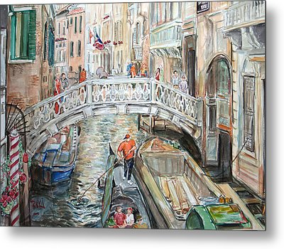 People In Venice Metal Print by Becky Kim