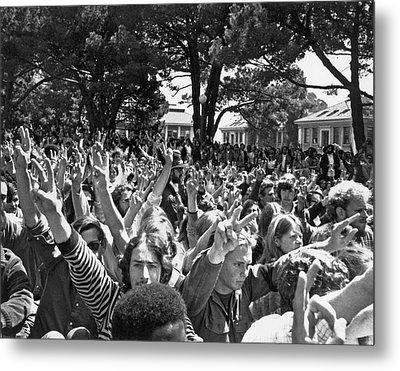 People's Park Rally Metal Print by Underwood Archives