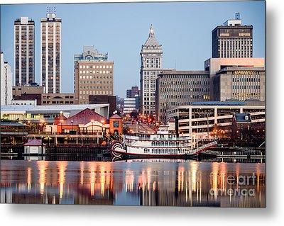 Peoria Illinois Skyline Metal Print by Paul Velgos