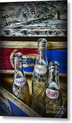 Pepsi Bottles And Crates Metal Print by Paul Ward