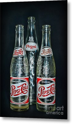 Pepsi Bottles From The 1950s Metal Print by Paul Ward