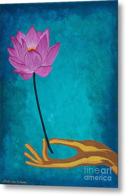 Wisdom Flower Metal Print by Mindah-Lee Kumar