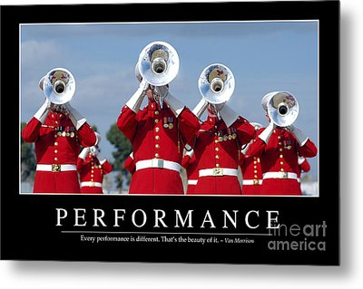 Performance Inspirational Quote Metal Print by Stocktrek Images