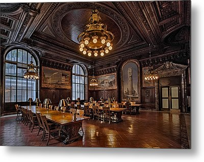 Periodicals Room New York Public Library Metal Print by Susan Candelario