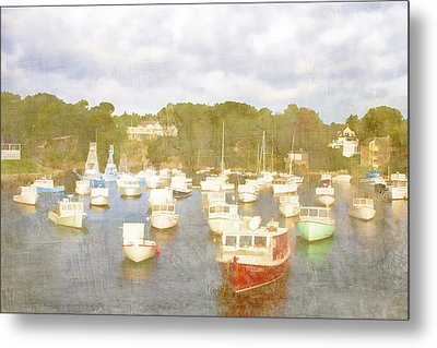Perkins Cove Lobster Boats Maine Metal Print by Carol Leigh