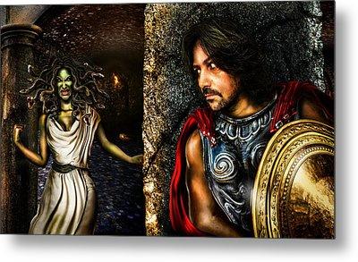 Perseus And Medusa Metal Print by Alessandro Della Pietra