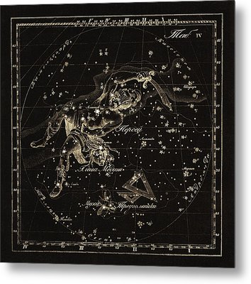 Perseus Constellations, 1829 Metal Print by Science Photo Library