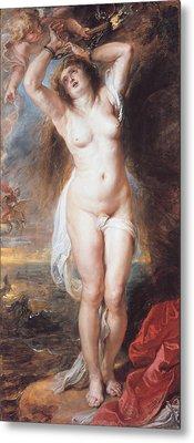 Perseus Freeing Andromeda Metal Print by Peter Paul Rubens