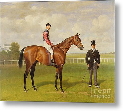 Persimmon Winner Of The 1896 Derby Metal Print by Emil Adam