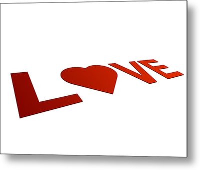 Perspective Love Sign Metal Print by Aged Pixel