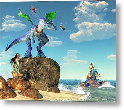Pet Dragon Metal Print by Daniel Eskridge