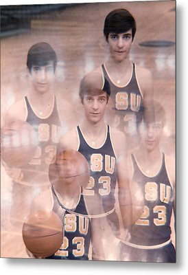 Pete Maravich Kaleidoscope Color Metal Print by Retro Images Archive