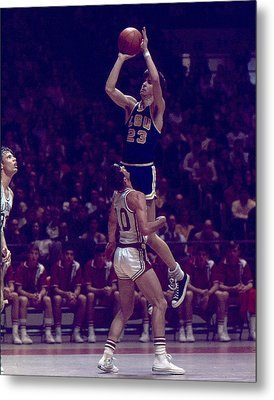 Pete Maravich Leaning Jumper Metal Print by Retro Images Archive