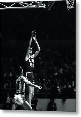 Pete Maravich Shooting From Distance Metal Print by Retro Images Archive