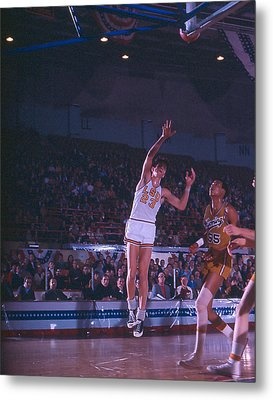 Pete Maravich Shot From The Corner Metal Print by Retro Images Archive