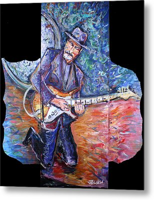 Peter Parcek Plays The Blues Metal Print by Jason Gluskin