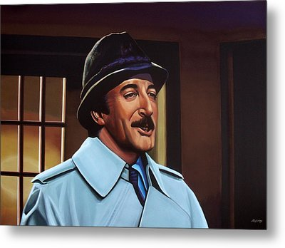 Peter Sellers As Inspector Clouseau  Metal Print by Paul Meijering