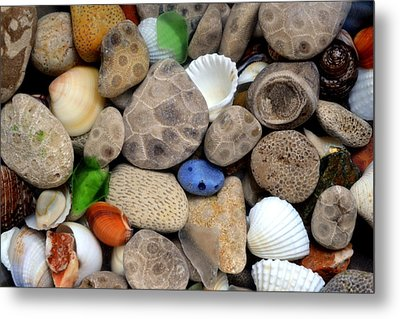 Petoskey Stones Lll Metal Print by Michelle Calkins