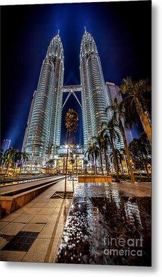 Petronas Twin Towers Metal Print by Adrian Evans