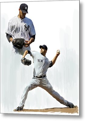 Pettitte  Andy Pettitte Metal Print by Iconic Images Art Gallery David Pucciarelli