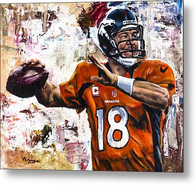Peyton Manning Metal Print by Mark Courage
