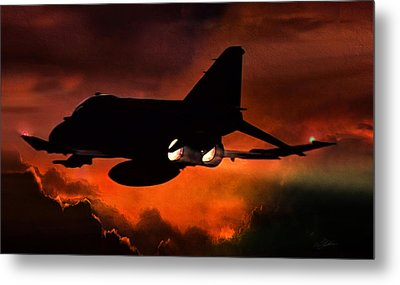 Phantom Burn Metal Print by Peter Chilelli