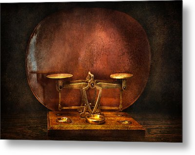 Pharmacy - Balancing Act  Metal Print by Mike Savad