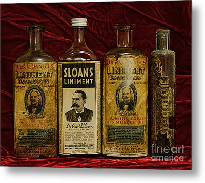 Pharmacy - Liniments For Sore Muscles Metal Print by Paul Ward