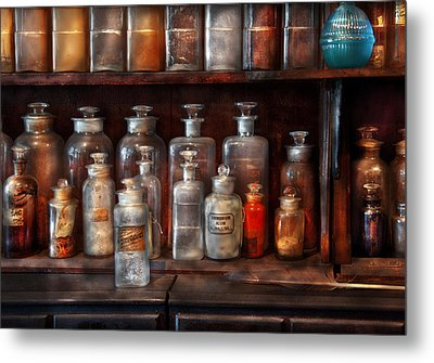 Pharmacy - The Chemistry Set Metal Print by Mike Savad